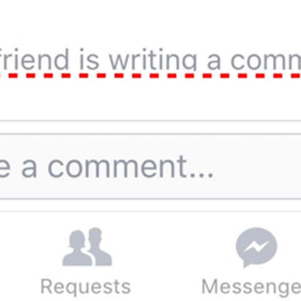 App do facebook agora permite ver quando alguém está escrevendo comentário