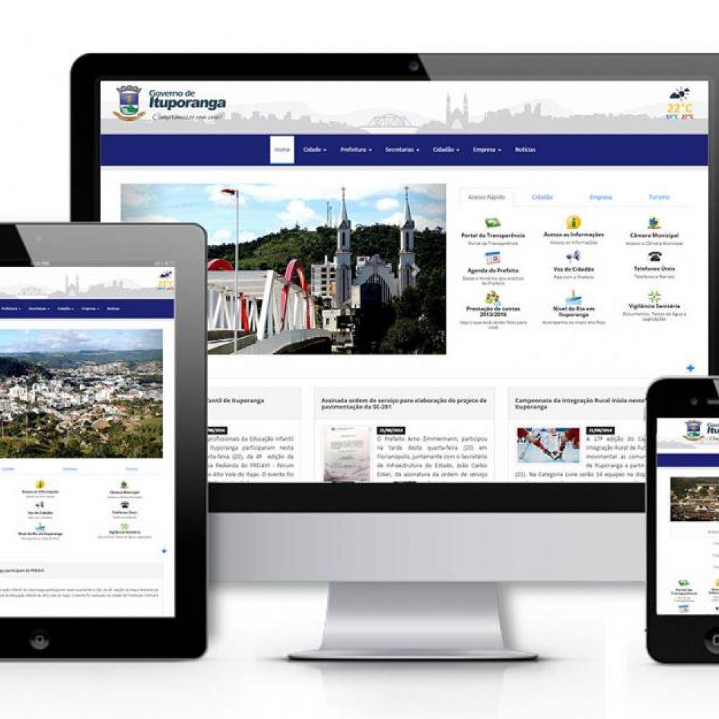 Prefeitura de Ituporanga implanta Portal do Município