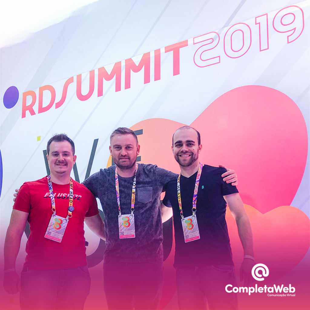 A CompletaWeb marcou presença no RD Summit, o  maior evento de Marketing e Vendas da América Latina!