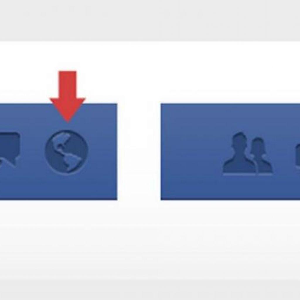 Facebook muda o ícone de notificação de acordo com o seu país