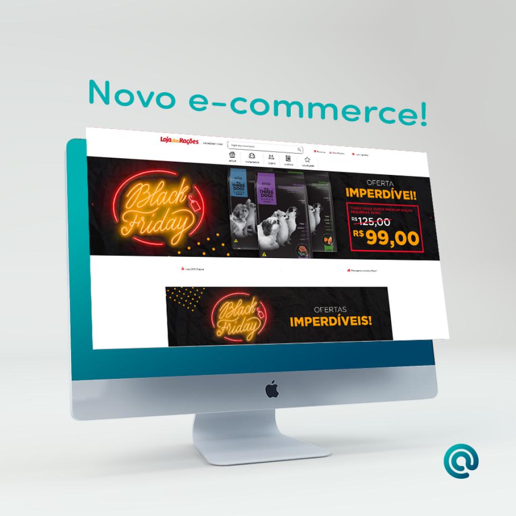 Confira o novo e-commerce da Loja das Rações